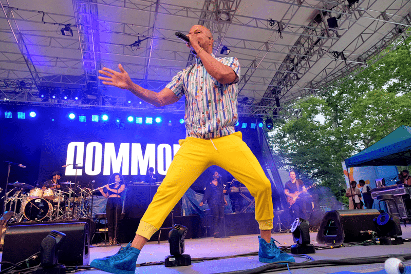 Common performs onstage during OZY Fest
