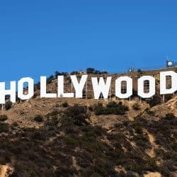 image of the famous Hollywood sign on the hillside