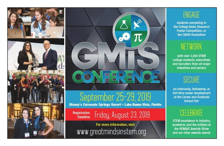 Great Minds in STEM Flyer with details for the event
