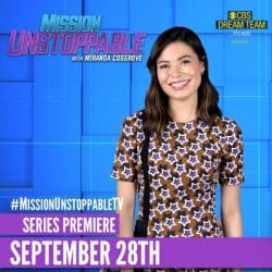 Miranda Cosgrove poses for Mission Unstoppable poster