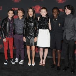 The Stranger Things Cast pose together for a picture