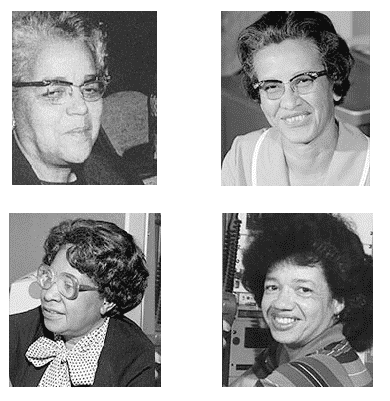 """Four of Nasa's """"Hidden Figures"""" are pictured in a collage"""