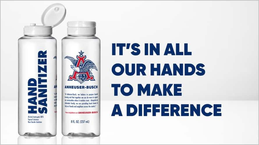 anheuser-busch diageo sanitizer bottles