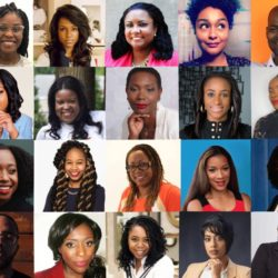 Collage of more than 25 black innovators' headshots