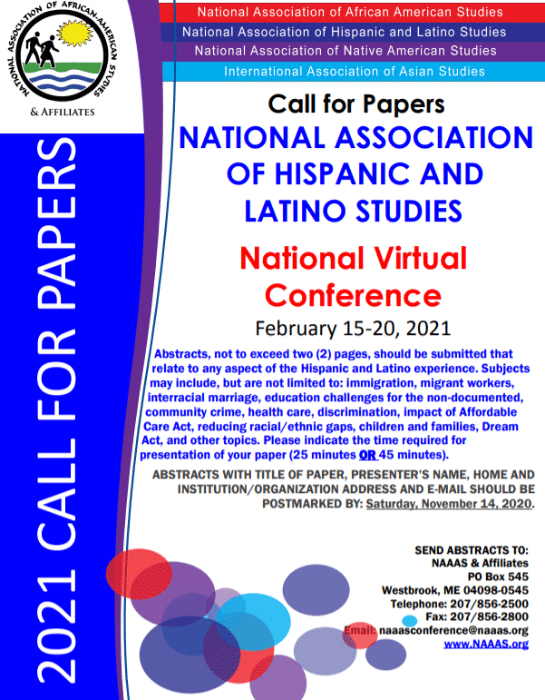 Flyer for the National Virtual Conference Event: Abstracts, not to exceed two (2) pages, should be submitted that