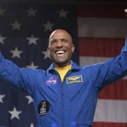 NASA astronaut Victor Glover is seen during a NASA event where it was announced that he, and NASA astronaut Mike Hopkins are assigned to the first mission to the International Space Station onboard SpaceXs Crew Dragon