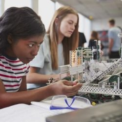 Black girl in the science engineering class
