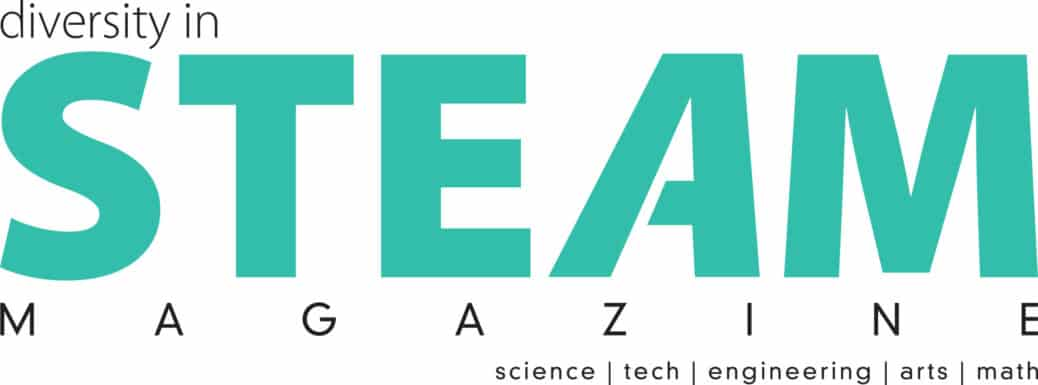 Diversity in STEAM Magazine logo in a green color