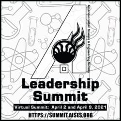 Event flyer for The AISES Leadership Summit with the website link to register and date of the event.