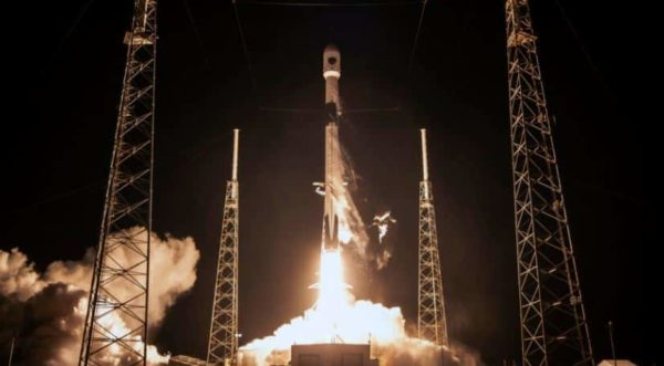 A SpaceX Falcon 9 rocket launched a U.S. Space Force GPS 3 satellite Nov. 5. The rocket lifted off at 6:24 p.m. Eastern from from Space Launch Complex 40 at Cape Canaveral Air Force Station in Florida. Credit: SpaceX